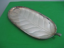 Vintage Leaf Silver Plated Oval Serving Tray International Silver Co Mod... - $18.65