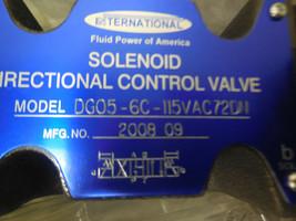 INTERNATIONAL DG05-6C-115VAC72DN DIRECTIONAL CONTROL VALVE NEW  image 2