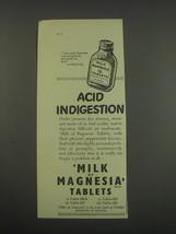 1957 Philips Milk of Magnesia Tablets Ad - Acid indigestion - $14.99