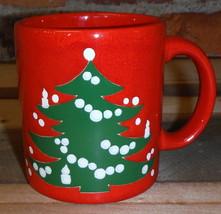 Waechtersbach Mug  Red Christmas Tree Germany Coffee Tea Cup - $18.61
