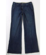 ANN TAYLOR LOFT Wide Leg Denim Trouser Jeans 6 ... - $24.99