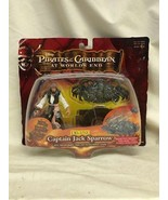 Action Figure Pirates of the Caribbean Jack Sparrow Deluxe On Card Zizzl... - $9.80