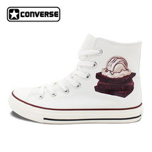 Ice Cream Pattern Chocolate Cake Design Canvas Shoes Converse All Star S... - $119.00