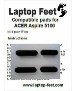 Laptop Rubber feet for ACER ASPIRE 5100 Compatible kit (4 pcs self adh. ... - $11.15