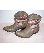 """Womens """"UNION BAY MARILYN-U"""" western slouch taupe cowboy boots size 6 me... - $9.89"""