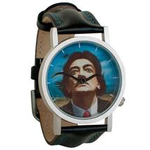 Salvador Dali Wristwatch Watch Mustache Persistence of Memory Leather Band New! image 1