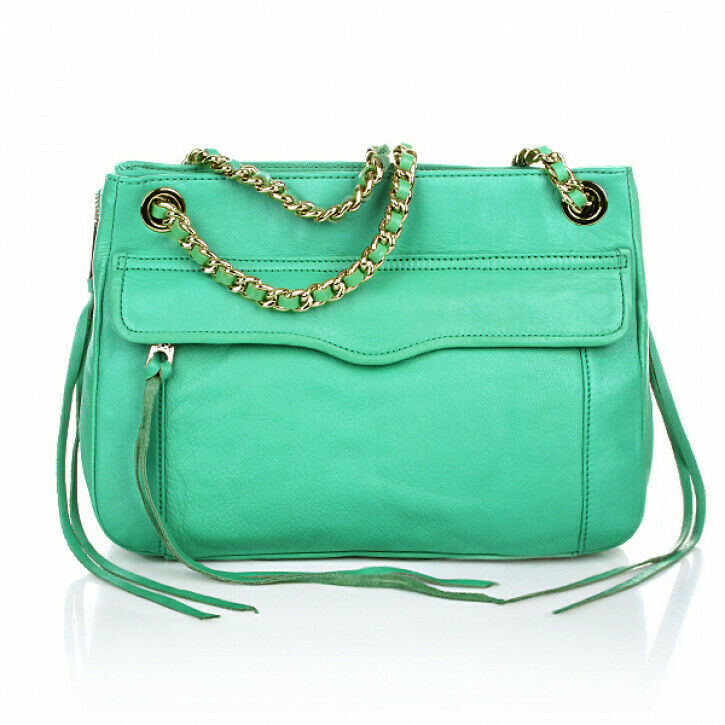 Primary image for Rebecca MInkoff Swing Convertible Chain Shoulder Bag Crossbody ~NWT~ Sea Green