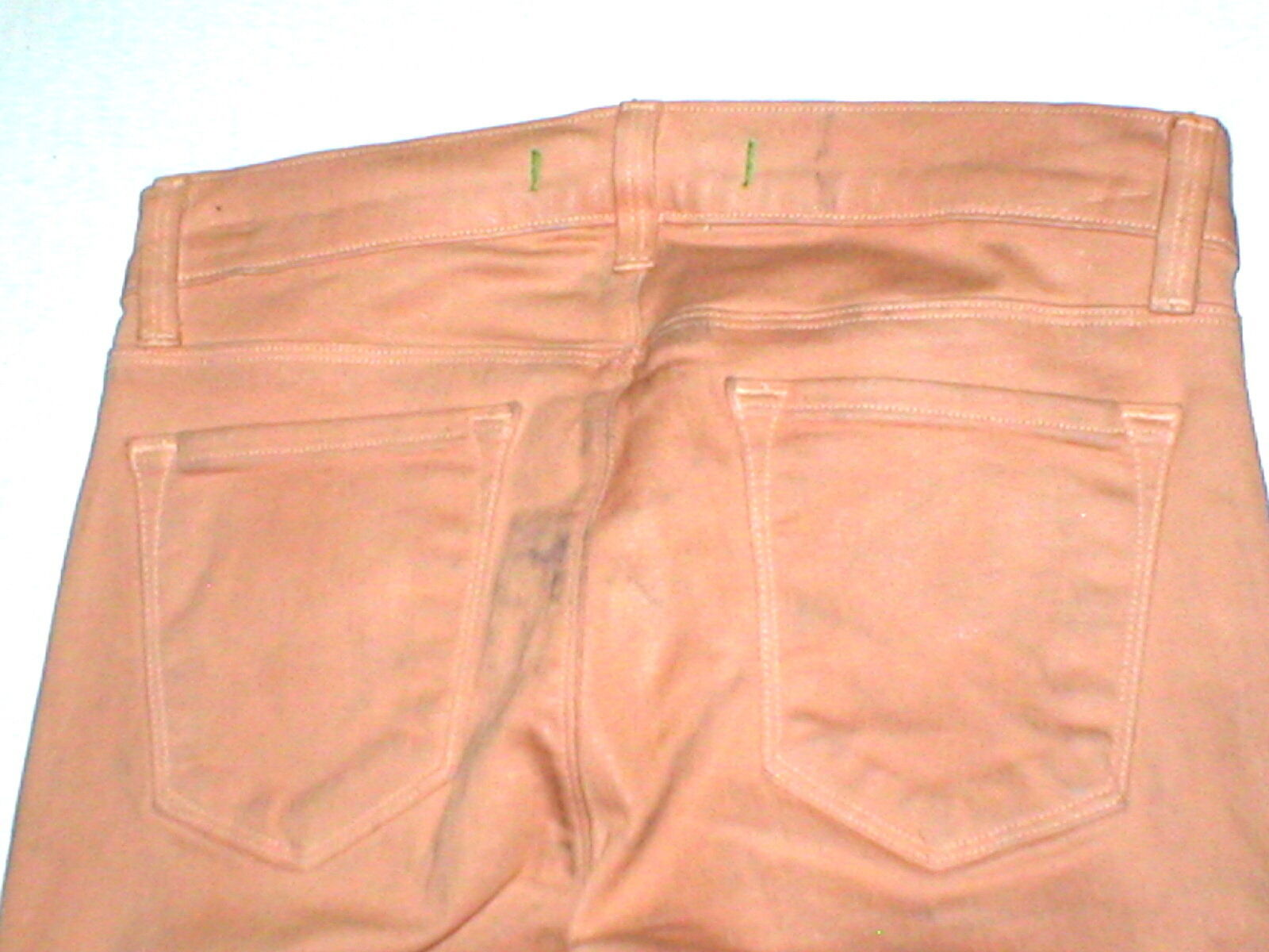 New J Brand Jeans Skinny Womens Coated Peach Leather Mid 26 Tigers Eye Pants USA image 7