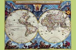 Stereographic Map of the World - Theatrum Orbis Terrarum by Joan Blaeu - Art Pri - $19.99+