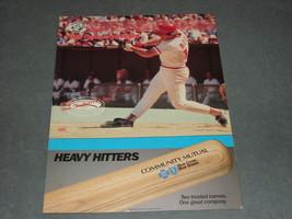 Cincinnati Reds Scorecard 1986 Pete Rose Reds vs Braves [Unmarked] - $7.00