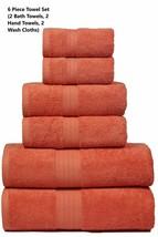 MAHI HOME Luxurious 6 Piece Towel Set, 100% Ring Spun Combed Cotton, Hea... - $38.32