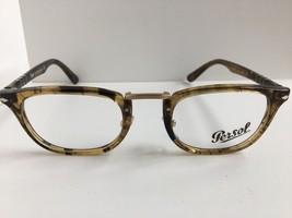 New Persol 3126-V 1021 Amber 48mm Rx Eyeglasses Frame Italy - $99.99