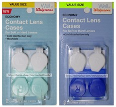 1 x 2pc CONTACT LENS CASES For Soft or Hard Lenses WASHABLE Plastic *YOU... - $2.96