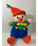 plush clown rattle baby soft toy stuffed colorful red green blue yellow ... - $19.79