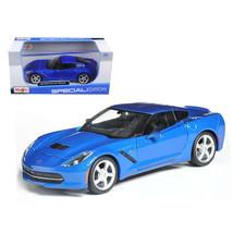 2014 Chevrolet Corvette C7 Coupe Blue 1/24 Diecast Model Car by Maisto 3... - $27.15