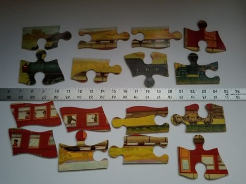 Twilight Express Puzzle Milton Bradley Antique Jigsaw Pieces Box Toy Treasure image 10