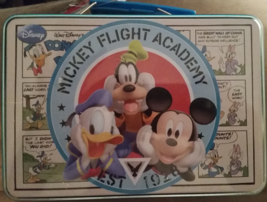 Mickey Flight Academy Disney Lunch Box, Eau De Toilette and Luggage Tag New - $38.93