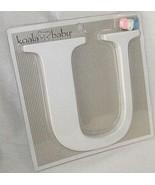 Koala Baby Letter U Uppercase White Nursery Wall Decor Ribbon Free Ship NEW - $16.81