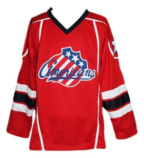 Cherry  2 custom rochester americans retro hockey jersey red   1