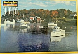 Kodacolor Puzzle New Harbor, Maine 1000pc Jigsaw Puzzle 1996 - $9.90