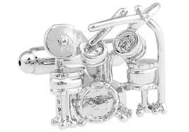 boxed drumkit cufflinks 7 piece silver kit   drumkit cufflinks gift boxed