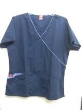 Dickies scrub top 11601 Womens M Medium 55%Cotton 45%Polyester Navy Blue - $11.95