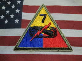 WWII WW2 US ARMY 7TH ARMORED DIVISION SSI PATCH C/E ORIGINAL - $7.00