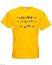 Mens T-Shirt Quote Never Give Up, Inspirational Shirts, Motivational Shirt - $24.74