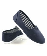 New Kids Boys Girls Simple Canvas Slip-On Shoes Flats Loafers 7 Colors (... - $23.76