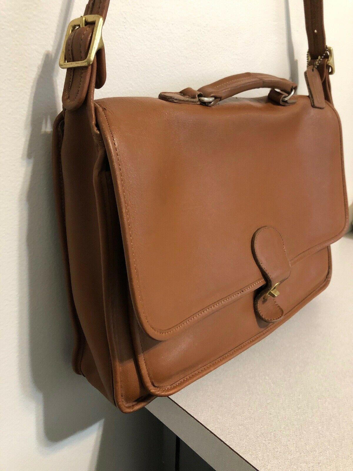 Vintage COACH L6C- 5180 Metropolitan Leather Messenger Attache Tan image 3