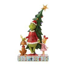 """Grinch, Max and Cindy by the Tree - Jim Shore Christmas Figurine 11.22"""" High"""