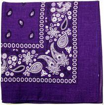 """12 Pack Premium Cotton Head Wrap Scarf Bandana Multiple Colors 22"""" X 22"""" image 15"""