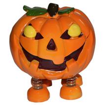 Spring Leg Pumpkin Monster Halloween Thanksgiving Money Safe Coin Bank - $16.82