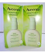 Aveeno Positively Radiant Daily Moisturizer, SPF 15 4oz (2PK) - $25.20