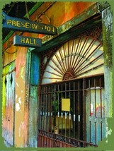 Preservation Hall Jazz Music New Orleans Louisiana Vacation Travel Metal... - $17.95