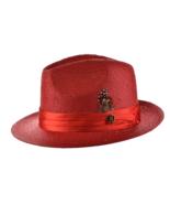 New Bruno Capelo Men's Vented Straw Dress Hat Fedora Venetian VE-732 - $39.99