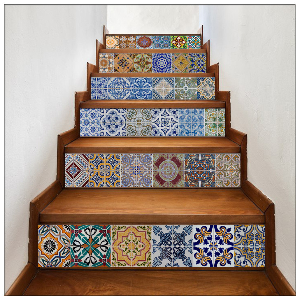 Primary image for DIY Steps Sticker Removable Stair Sticker Wrap003 Ceramic Tiles Patterns