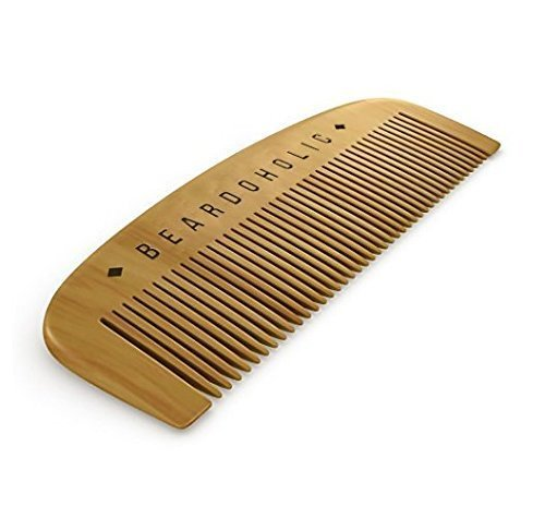 BEARDOHOLIC Beard Comb, Fine Toothed, Anti Static that Detangles and Straighten