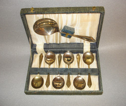 Vintage Spoons Berry Set 6 1 Serving Silverplate EPNS England - $74.95