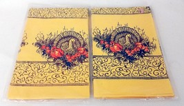 Vintage Reed Thanksgiving Paper Tablecloths Turkey Pumpkins Fall Lot of ... - $12.82 CAD