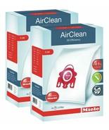 2 X Miele 10123220 AirClean 3D Efficiency Dust Bag, Type FJM, 4 Bags & 2... - $39.71