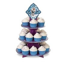Disney Frozen Olaf Elsa Anna Treat Stand 24 Cupcake Holder Party Centerp... - $6.99