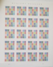 Mystery Message - 2021 USPS 20 Forever Stamps Sheet - $15.95