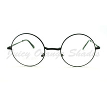 Unisex Round Clear Lens Glasses Thin Metal Circle Frame - $8.86+
