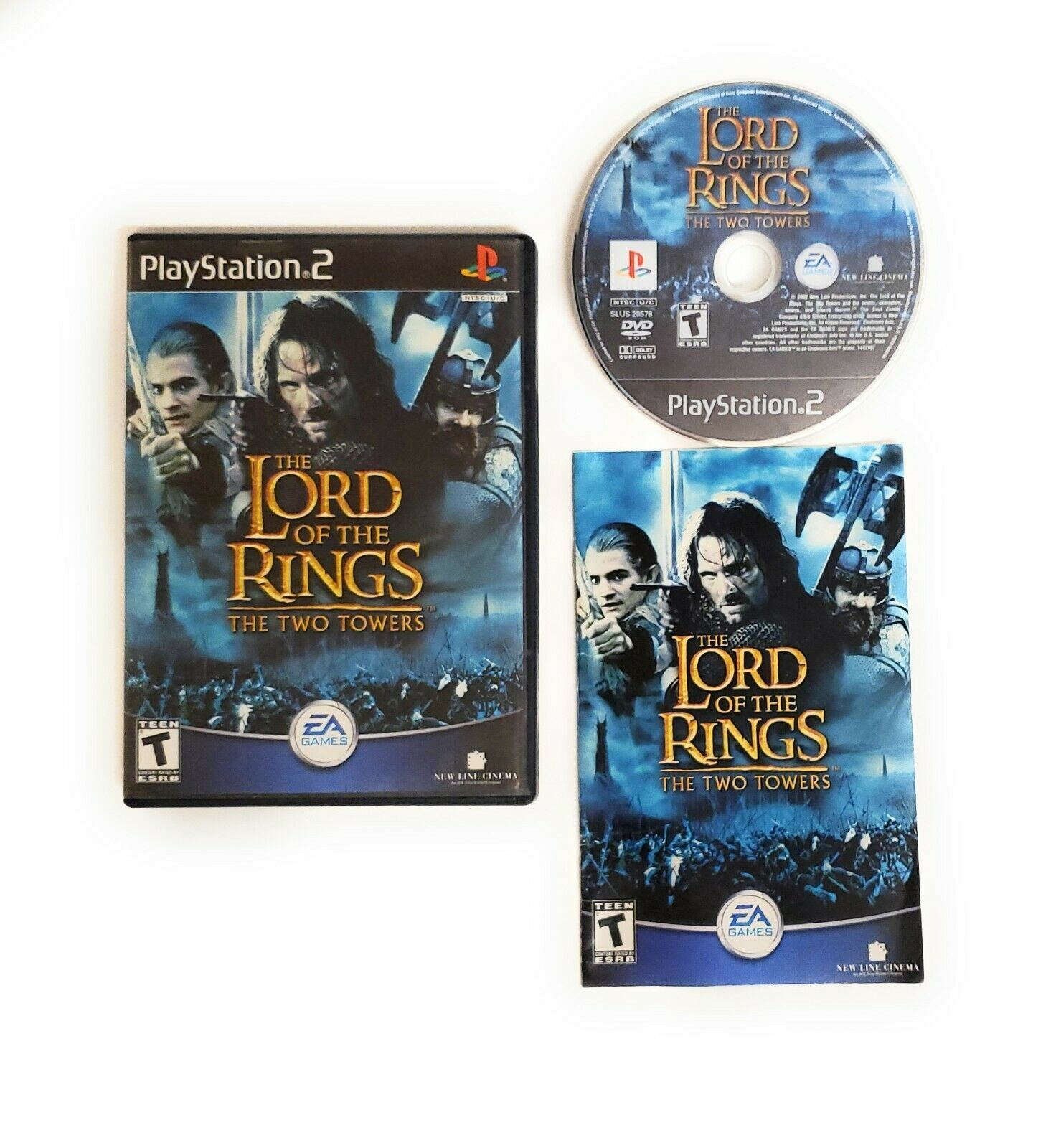 Lord of the Rings The Two Towers (PlayStation 2 PS2 2004) Complete w Manual CIB - $10.40