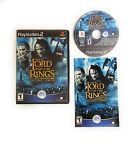 Lord of the Rings The Two Towers (PlayStation 2 PS2 2004) Complete w Man... - $10.40