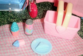 Pink Picnic Basket and Treats fits Fisher Price Loving Family Dollhouse ... - $5.99