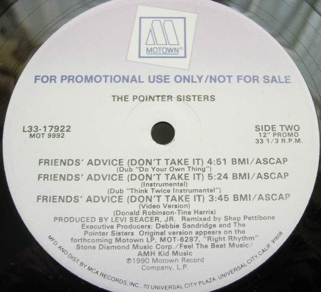 Pointer Sisters - Friends' Advice - Motown Records L33-17922