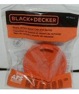 Black Decker RC 100 P Replacement Spool Cap Spring Orange SIlver Plastic... - $8.99