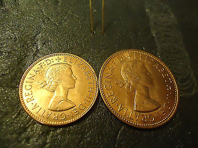 1967 English Half Penny & One Penny Red and 50 similar items